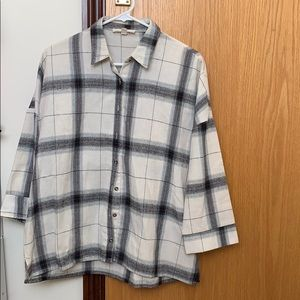Flannel with buttons down middle